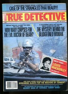 TRUE DETECTIVE-07/1987-BLUDGEONED WOMAN-THAI BEAUTY-SCREAMING SLAVES VG