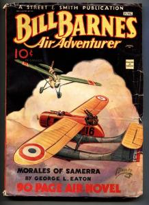 BILL BARNES AIR ADVENTURER June 1935-Pulp magazine-Canadian variant-High Grade