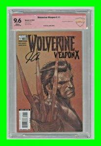 Wolverine Weapon X #1 2009 Marvel 1st Melita Garner Signed Jason Aaron CBCS 9.6