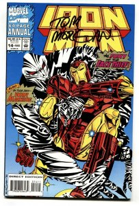 IRON MAN Annual #14  1993 Signed on cover by TOM MORGAN