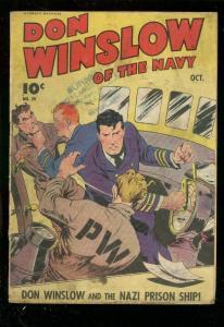 DON WINSLOW OF THE NAVY #20-1944-NAZI PRISON SHIP-WW II G/VG