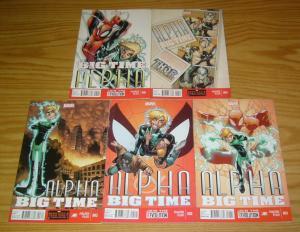 Alpha: Big Time #1-5 VF/NM complete series - spider-man - humberto ramos 2 3 4