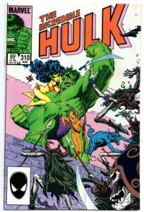 HULK #310, VF+, Incredible, Bruce Banner, Williamson, 1968 1985, Marvel