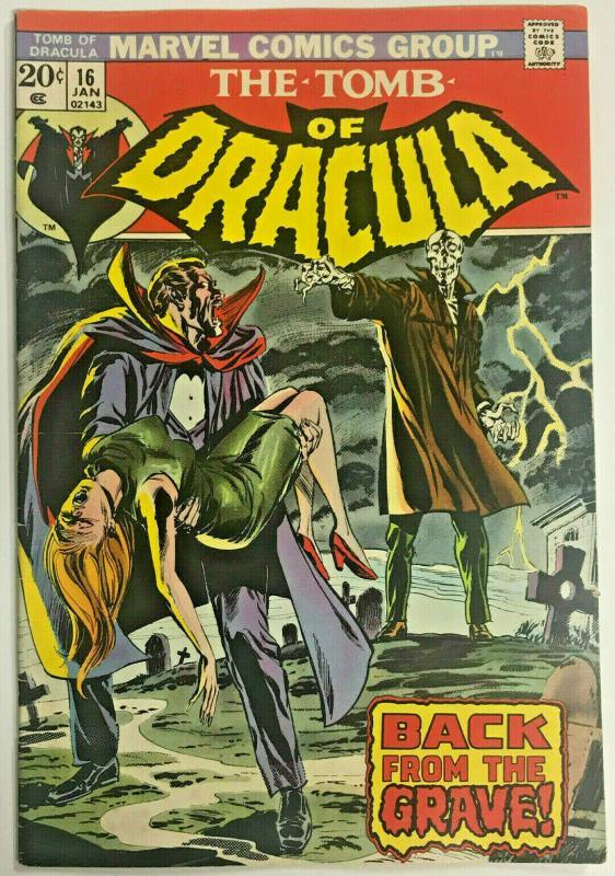TOMB OF DRACULA#16 FN/VF 1974 MARVEL BRONZE AGE COMICS