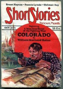 Short Stories Pulp October 25 1927- Colorado- Ernest Haycox VG