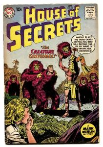 HOUSE OF SECRETS #36-comic book-CREATURE COSTUMES-DC Silver Age