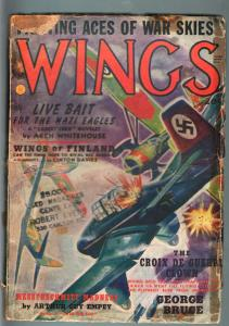 WINGS SUMMER 1940-NAZI EAGLES-AVIATION PULP G-