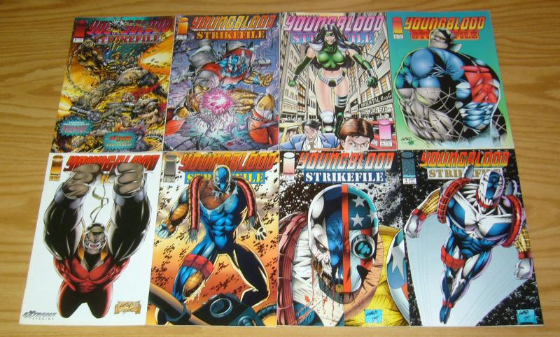 Youngblood Strikefile #1-11 VF/NM complete series + yearbook - image comics set