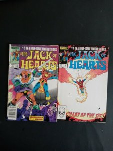 JACK OF HEARTS #'s 3 & 4 OF 4  1983  MARVEL  /    /  MED-  QUALITY