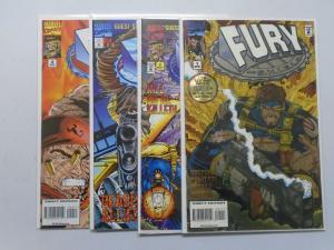 Fury of SHIELD, Set:#1-4, Direct Edition 8.0/VF (2003)