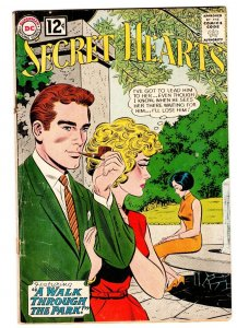 SECRET HEARTS #84 comic book-DC ROMANCE-BLONDE BABE-HEADLIGHTS