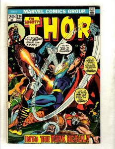 Lot Of 6 Mighty Thor Marvel Comic Books # 214 215 216 217 218 219 Odin Loki GK4