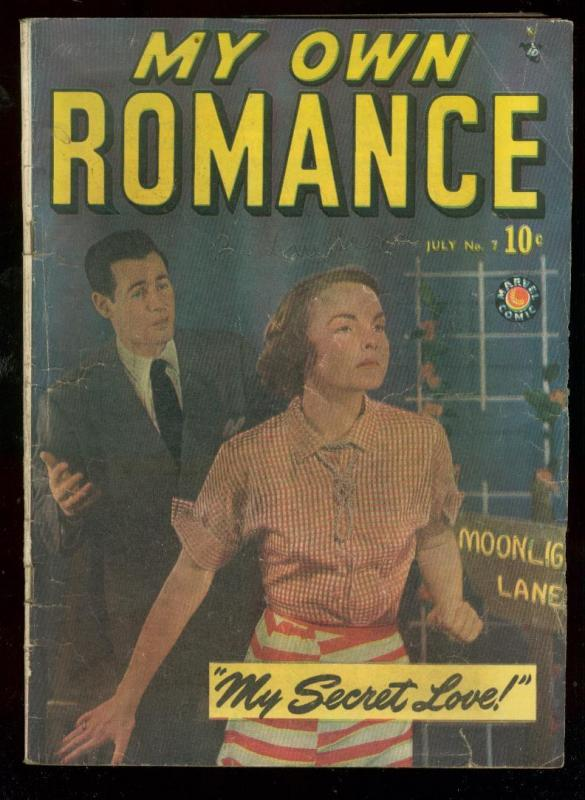 MY OWN ROMANCE #7 1949-MARVEL COMICS-PHOTO COVER VG