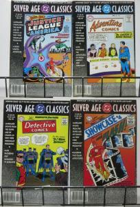DC SILVER AGE CLASSICS MINI-COLLECTION! 4 BOOKS- first JLA,Manhunter,Barry Allan