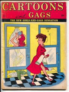 Cartoons and Gags 8/1961-Marvel-spicy cartoons & jokes-mermaid-G