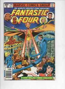 FANTASTIC FOUR #216, VF, God, Byrne, 1961 1980, Marvel, more FF in store, UPC