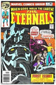 THE ETERNALS #1 (July1976) 8.5 VF+  Jack Kirby! Huge MARVEL MOVIE coming soon!
