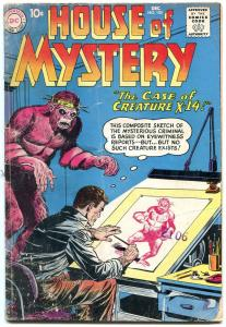 HOUSE OF MYSTERY #105 HORROR SCI-FI DISASTE    1960 DC G