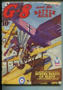 G-8 and His Battle Aces-8/1943-Popular-hero pulp-aviation theme-FR