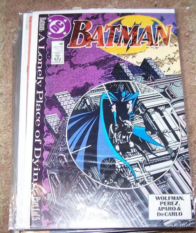 BATMAN #440 a lonely palce of dying pt 1 +tim drake into KEY