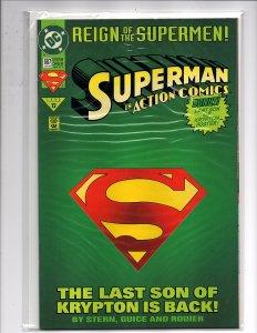 DC Comics Action Comics #687 Collector's Edition Die Cut Cover Eradicator 1st Ap