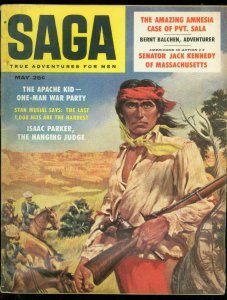 SAGA MAGAZINE MAY 1958-APACHE KID-KENNEDY-STAN MUSIAL P VG