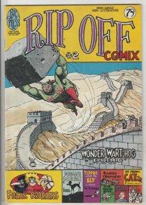 Rip Off Comix #2 (Jan-77) VF High-Grade Wonder Wart-Hog, Freak Brothers, Fat ...