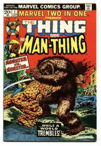 MARVEL TWO-IN-ONE #1 1973 THING MAN-THING COLAN SINNOTT VF/NM