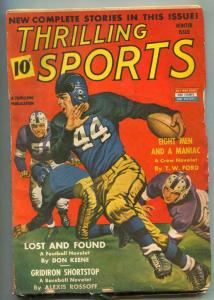 Thrilling Sports Pulp Winter 1943- Football cover VG