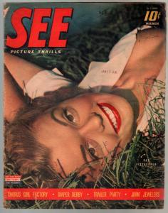 See 3/1943-Pat Fitzgerald-Hedy Lamarr-stockings-pin-ups-cheesecake-VG
