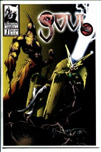 Soul #1 1994-Flashpoint-1st issue-Thomas Grozan autograph-limited edition-VF