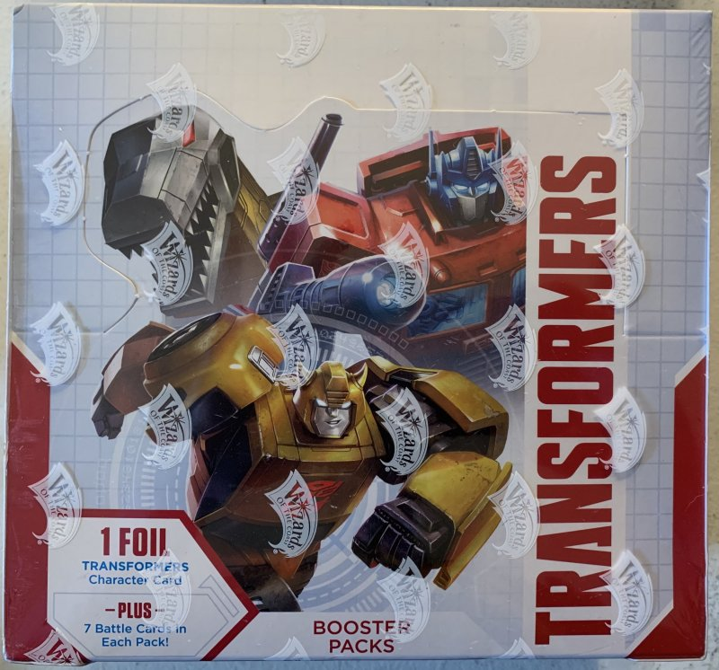 Transformers trading card game Sealed Box booster packs First Set Sealed!