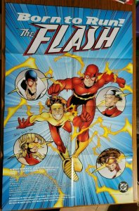 34 x 22 The Flash Born To Run DC Comics Promo Poster NO PIN HOLES NEW
