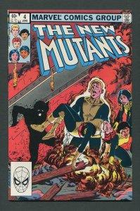 New Mutants #4 / 9.2 NM-  June 1983