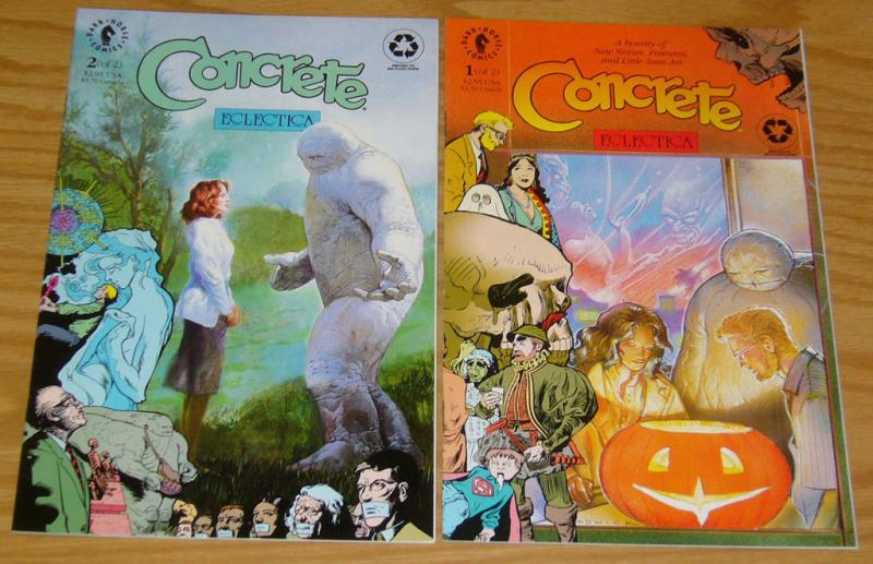 Concrete: Eclectica #1-2 VF/NM complete series PAUL CHADWICK dark horse comics