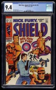 Nick Fury, Agent of SHIELD #12 CGC NM 9.4 Marvel Comics