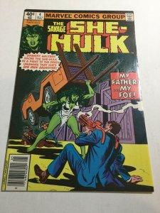 Savage She-Hulk 4 Fn Fine 6.0 Newsstand Edition Marvel Comics