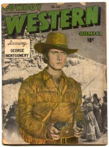 Cowboy Western #26 1950- George Montgomery- Davy Crockett G