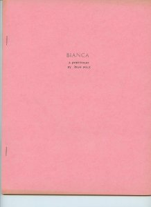 Vintage FANZINE (circa 1960s) BIANCA - A Portfolio by Dian Pelz