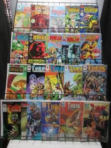 Dinosaurs Comic Sampler Lot C 25Diff Turok Devil for Hire Ripping Roaring Tales!