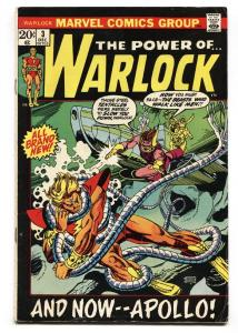 WARLOCK #3 1972-Marvel-First appearance of TRIAX as APOLLO - comic book