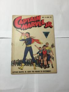 Captain Marvel Jr. 3 2.5 Good+ Gd+ Cover Detached But Otherwise Complete