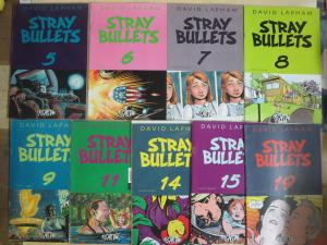 Stray Bullets by David Lapham #5-19 Lot of 9Diff Crime Stories of the Hapless