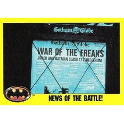 1989 Batman The Movie Series 2 Topps NEWS OF THE BATTLE! #153
