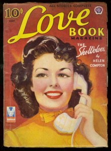 LOVE BOOK MAY 1953-SHE WOLVES-HELEN COMPTON-PIN UP PULP VG