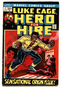 Hero For Hire #1 1st appearance Luke Cage Marvel Key Issue 1972