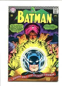 BATMAN 192-1967-CRYSTALL BALL COVER VG
