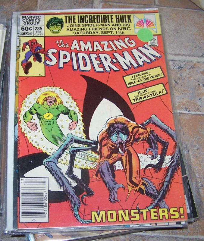 Amazing Spider-Man # 35 MARVEL 1982 WIL O THE WISP+ TARANTULA+ MONSTERS