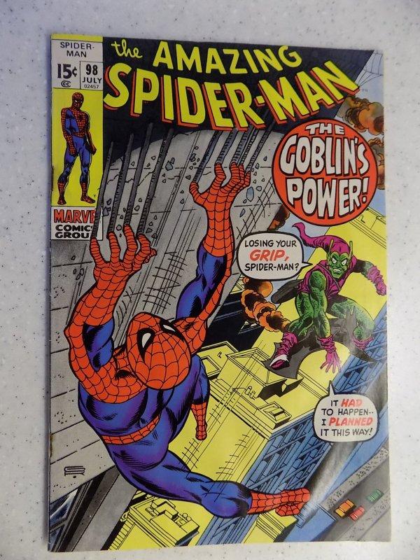 AMAZING SPIDER-MAN # 98 MARVEL BRONZE DRUG ISSUE