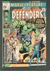 MARVEL FEATURE 1;VG+ 1st APPEARANCE THE DEFENDERS.